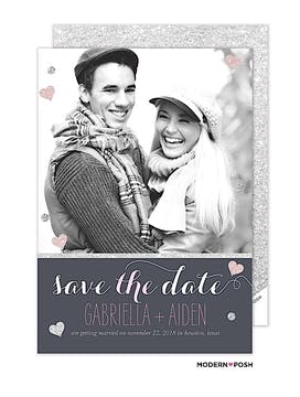 Sparkle Photo Save The Date Card Photo Save The Date Card