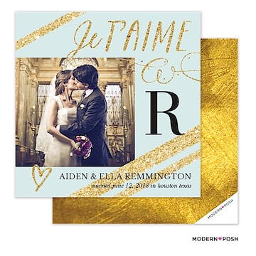 Sparkle Photo Save The Date Card