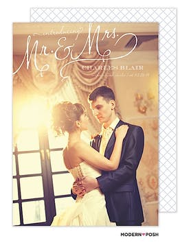 Mr. & Mrs. Photo Wedding Announcement