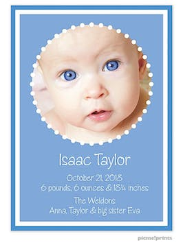 Little Me Ocean Boy Photo Birth Announcement