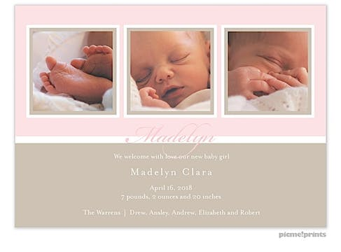 Windows Ballet Girl Photo Birth Announcement