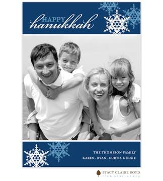 Hanukkah Snowflakes Photo Card
