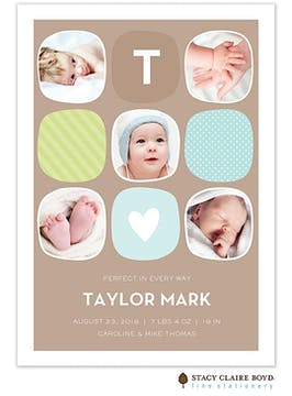 Urban Baby - Blue Boy Photo Birth Announcement