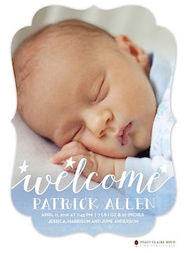 Loving Welcome Photo Birth Announcement