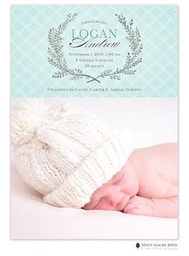Lovely Laurel Photo Birth Announcement