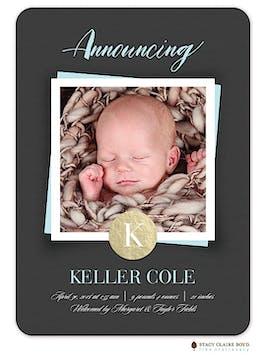 Simple Snapshot Photo Birth Announcement