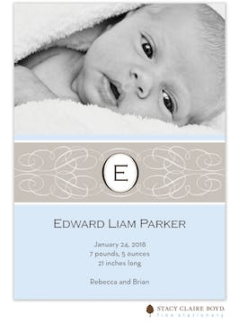 Enchanted Blue Boy PhotoBirth Announcement