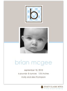 Bubble Bath Blue Boy Photo Birth Announcement
