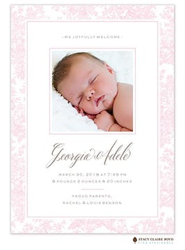 Little Provence Photo Birth Announcement