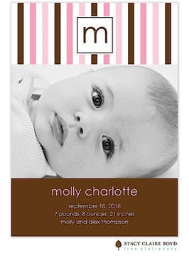 Pretty Girl Photo Birth Announcement