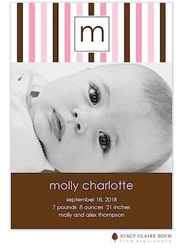 Pretty Girl Photo Birth Announcement