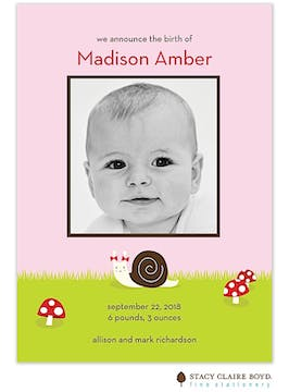 Little Twirl Girl Photo Birth Announcement