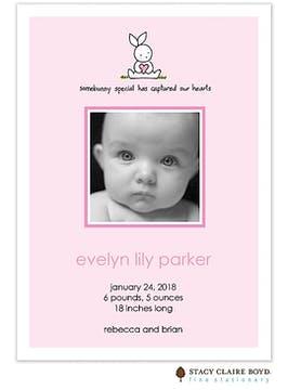 Somebunny Special Girl Photo Birth Announcement