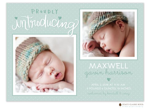 First Snapshots Photo Birth Announcement