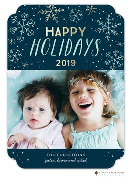 Sweet Snowfall Holiday Photo Card
