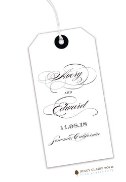 White Hanging Gift Tag