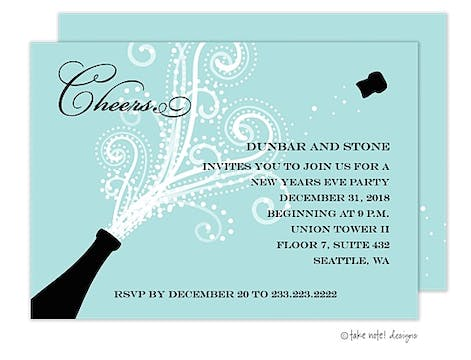 Champagne Blast Invitation