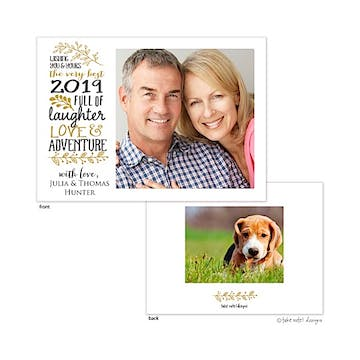 Love, Laughter & Adventure  Flat Photo Holiday Card