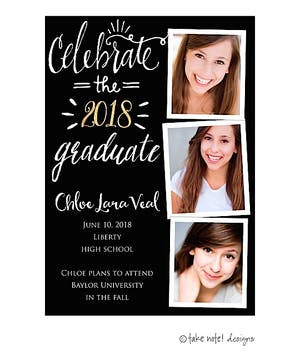 Celebrate The Graduate Graduation Photo Magnet