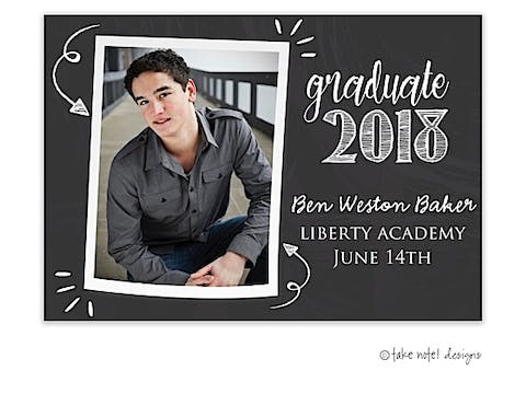 Look At The Graduate Chalkboard Graduation Photo Magnet
