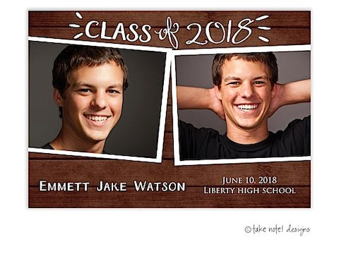 Rustic Grad Celebrate Graduation Photo Magnet