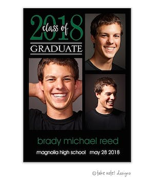 Simple Graduate Layout Graduation Digital Photo Magnet
