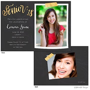 Emma Jane Gold Tape Script Photo Card