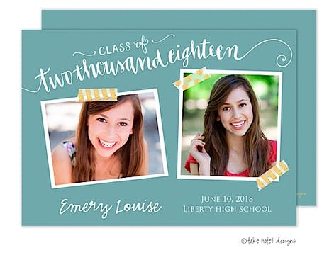 Emery Louise Pool Year Script Photo Card