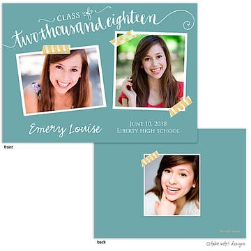 Emery Louise Pool Year Script Photo Card