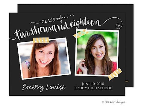Emery Louise Year Script Photo Card