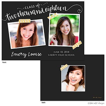 Emery Louise Year Script Photo Card