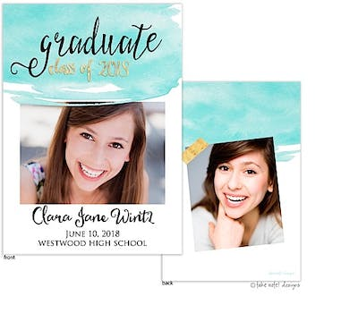 Clara Jane Watercolor Overlay Photo Card