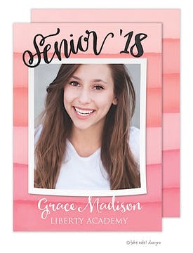 Grace Madison Watercolor Stripes Photo Card