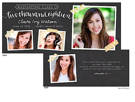 Claire Ivy Chalkboard and Tape Photo Card