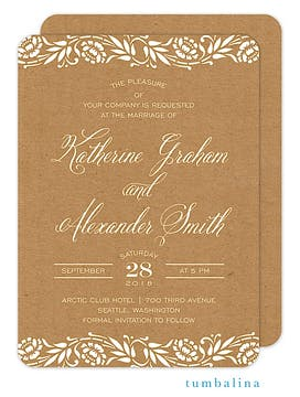 Rose Branches Invitation
