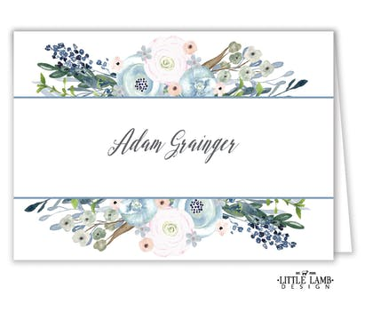 Watercolor Florals Placecard