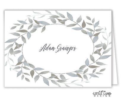 Watercolor Wreath Placecard
