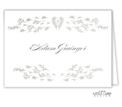 Delicate Florets Placecard