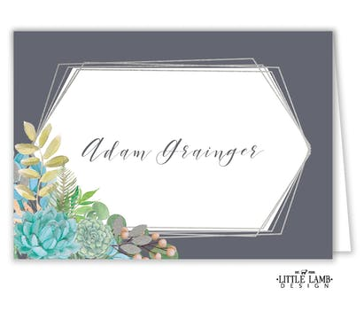 Modern Succulents Placecard