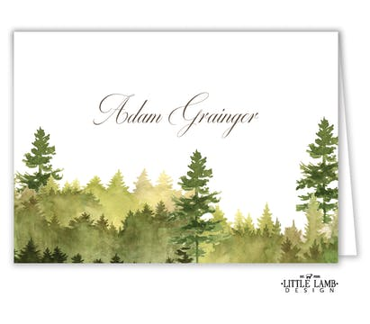 Watercolor Forest Placecard