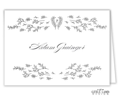 Glistening Florets Foil-Pressed Placecard