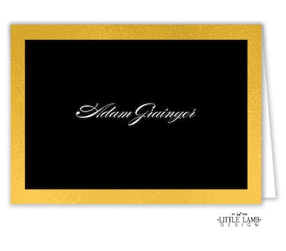 Black & Gold Placecard