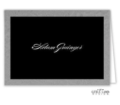 Brilliant Border on Black Foil-Pressed Placecard