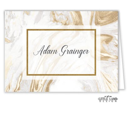 Lustrous Marble Foil-Pressed Placecard