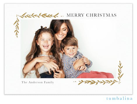 Brilliant Boughs Foil Pressed Holiday Photo Card