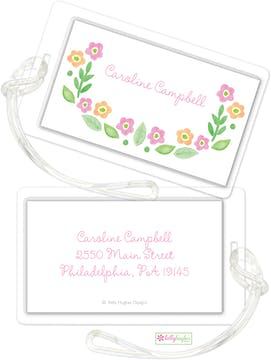 Sweet Floral ID Tag