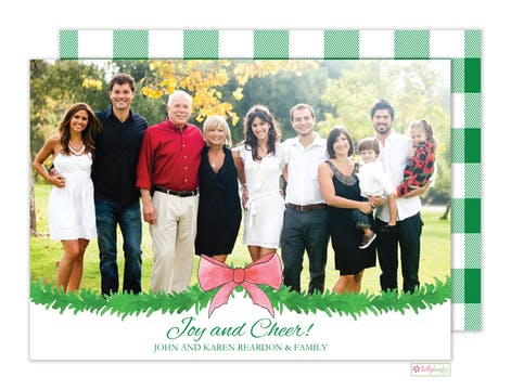 Holiday Check Holiday Photo Card