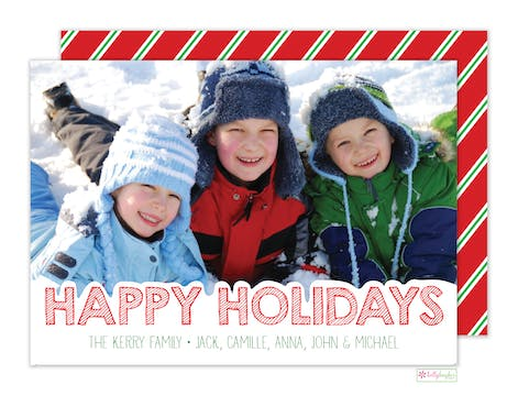 Snowtopped Holiday Photo Card