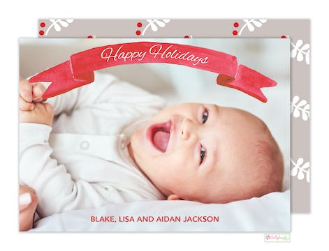 Banner Holiday Holiday Photo Card
