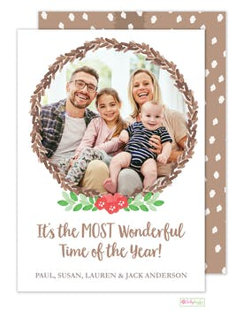 Woodland Fawn Holiday Photo Card